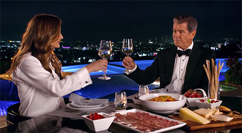 Pierce Brosnan brand ambassador Spar Premium Commercial original dinner food