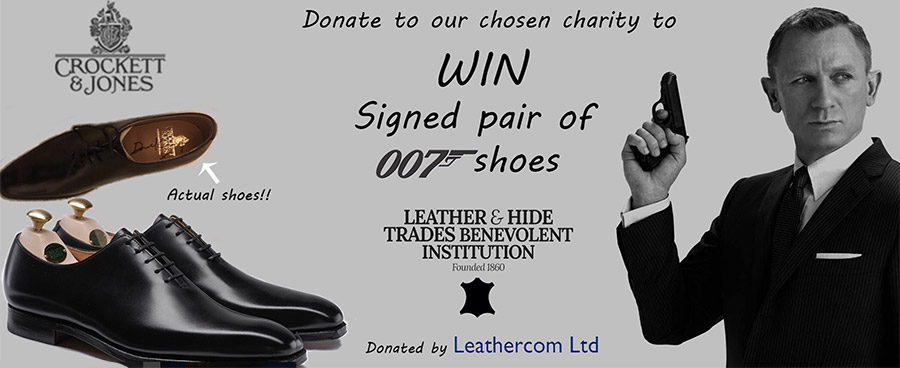 Daniel Craig signed Crockett & Jones Alex Black leather shoe charity