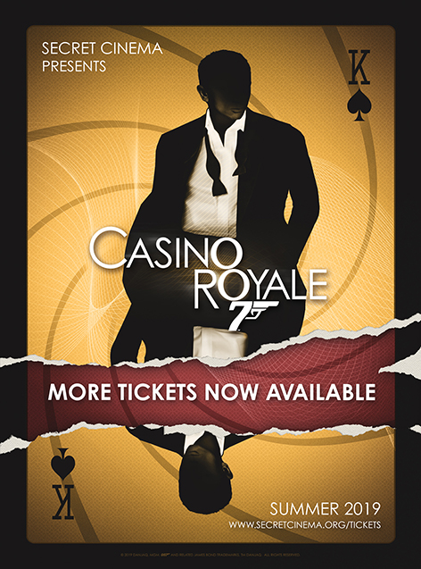 Secret Cinema Casino Royale extra tickets available