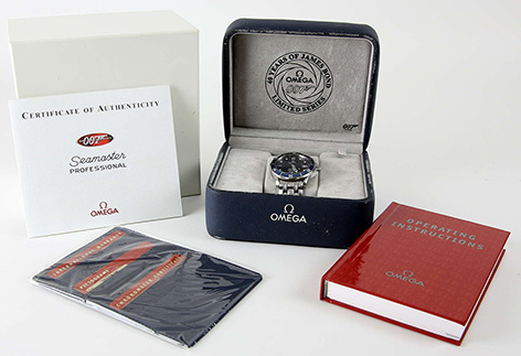Omega Seamaster Professional Diver Wristwatch 40 Years of James Bond Limited Edition