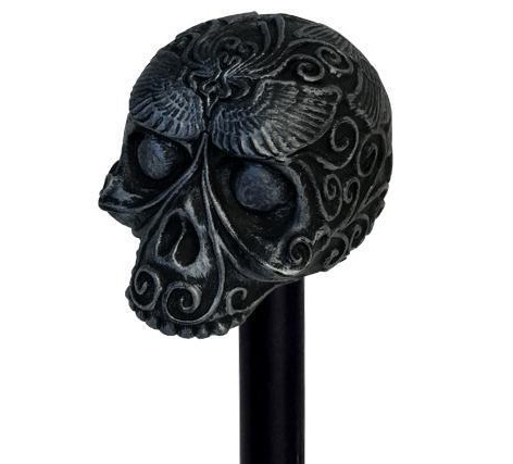 SPECTRE Day Of The Dead Skull Cane Limited Edition Prop Replica front