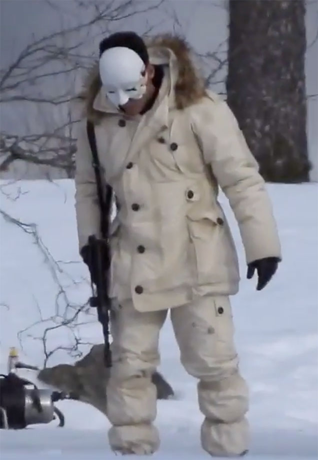 white parka bond 25 villain