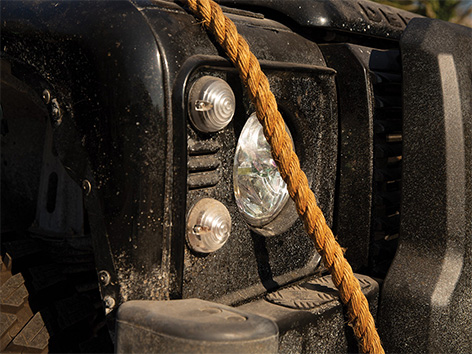 Land Rover Defender SPECTRE SVX RM Auctions Sothebys front lamp light rope