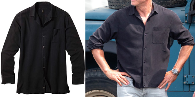 Tommy Bahama Catalina Twill Shirt in Black