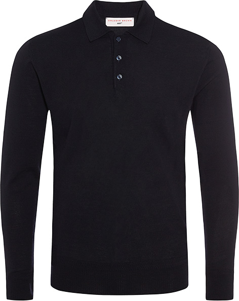 Orlebar Brown 007 Collection Midnight Polo Shirt long sleeve Goldfinger Thunderball