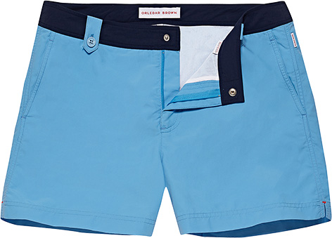 Orlebar Brown Thunderball swim shorts 007 belted blue