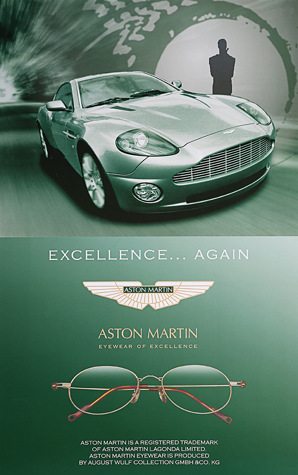Aston Martin August Wulf eyewear poster auction