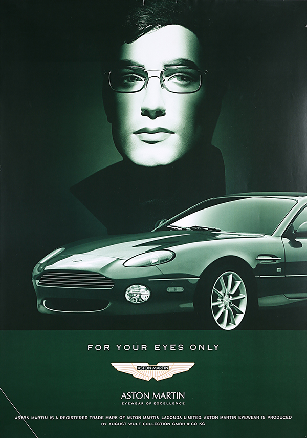 Aston Martin August Wulf eyewear poster advertising auction