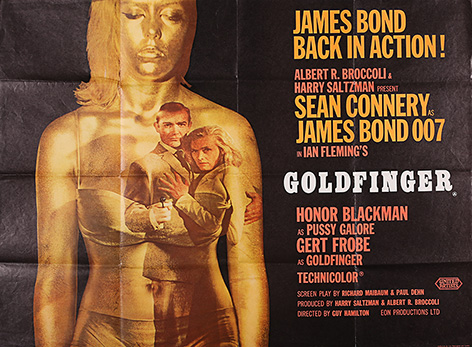 Goldfinger prop store auction poster