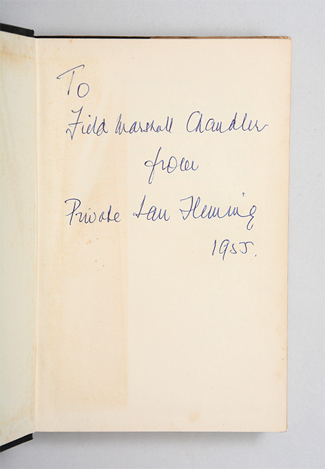 Moonraker Ian Fleming Chandler inscribed sale collection