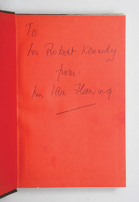 Robert Kennedy Ian Fleming inscription spy who loved me