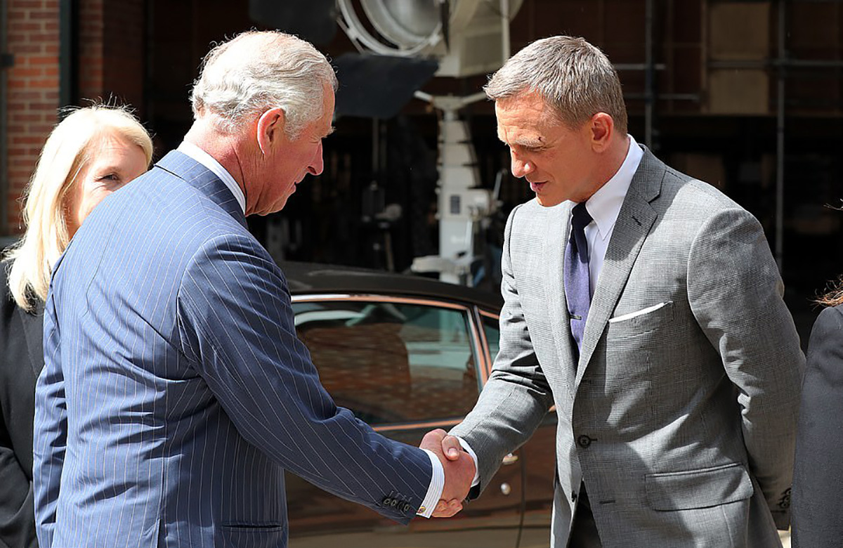 James Bond Prince Charles Set Visit Aston Martin