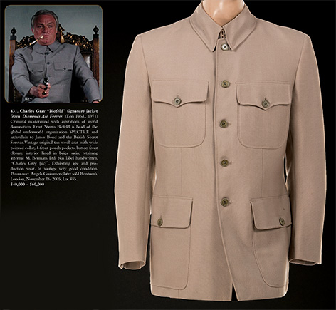 Blofeld Diamonds Are Forever jacket suit auction