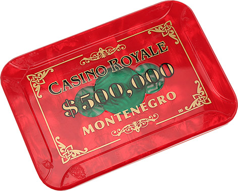 Casino Royale 500000 chip montenegro film prop carta mundi james bond