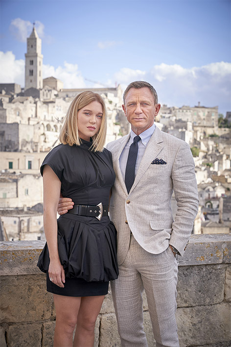 Daniel Craig Lea Seydoux Matera No Time To Die photocall