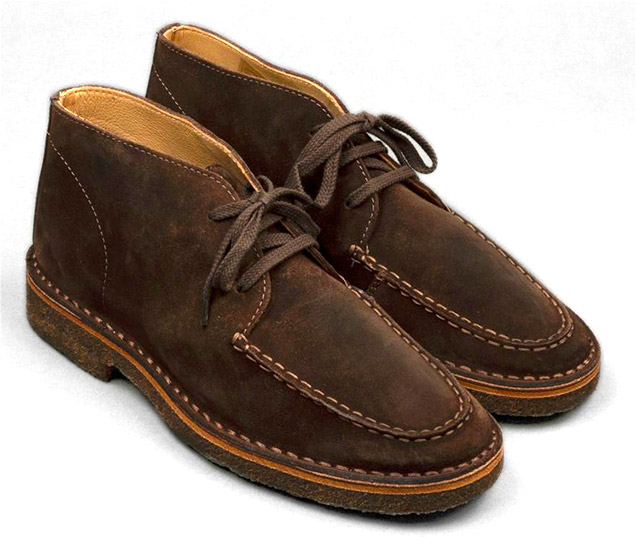 Drake's Crosby moc-toe chukka boots dark brown