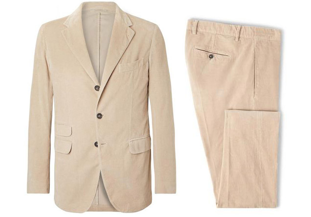 Massimo Alba cotton corduroy sloop suit James Bond Daniel Craig Matera outfit