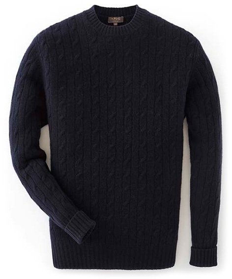 N.Peal cashmere GoldenEye sweater cable crew neck 007 collection