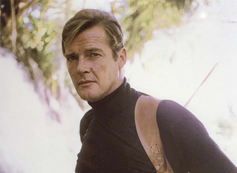 Roger Moore turtle neck sweater Live and Let Die black