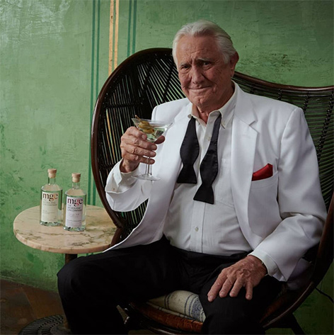 George Lazenby Melbourne Gin ad