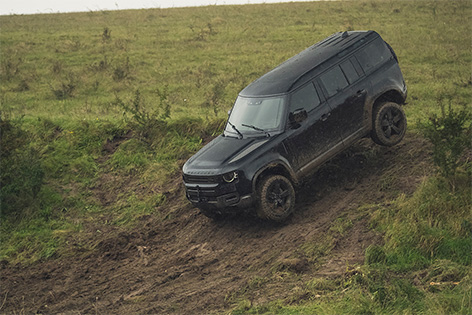 New Defender Land Rover stunt no time to die