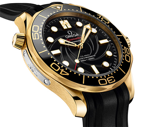 Omega Seamaster 300M limited edition gold plaque number