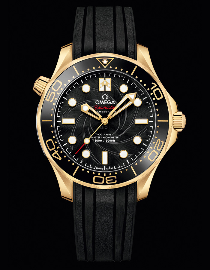 Omega James Bond Limited Edition OHMSS Seamaster Diver 300M gold