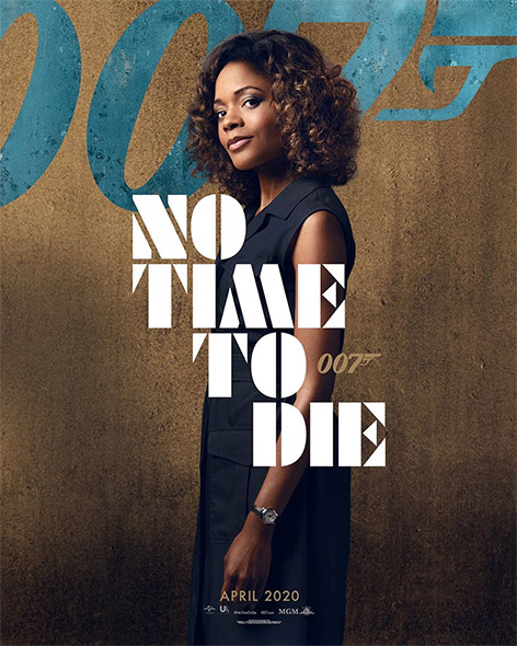 Moneypenny Naomie Harris No Time To Die poster