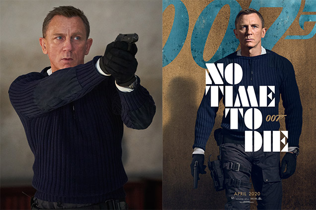 NPeal Sweater No Time To Die James Bond Daniel Craig