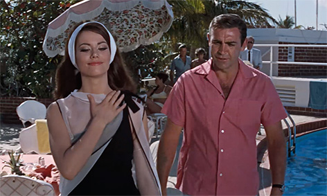 Claudine Auger Thunderball with Sean Connery in The Bahamas