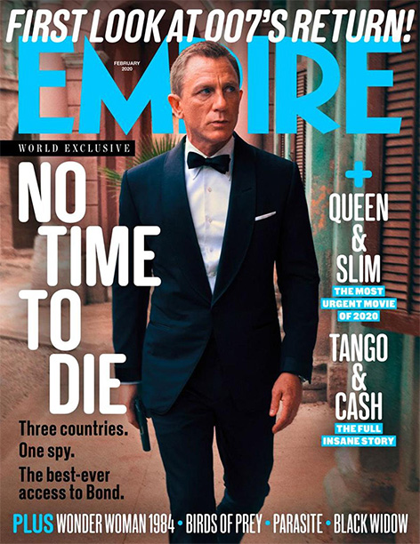 empire magazine daniel craig james bond cover december 2019