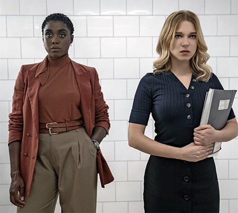 lashana lynch nomi lea seydoux madeleine swann no time to die empire magazine exclusive photo