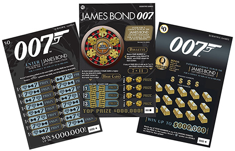 James Bond 007 lottery tickets no time to die