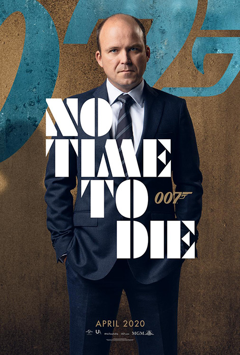 Rory Kinnear No Time To Die Bill Tanner character poster James Bond 007