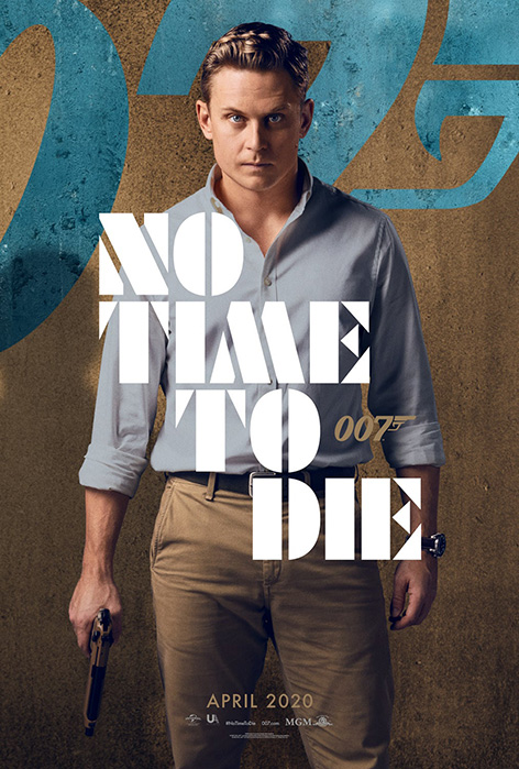 Logan Ash No Time To Die Billy Magnussen character poster James Bond 007