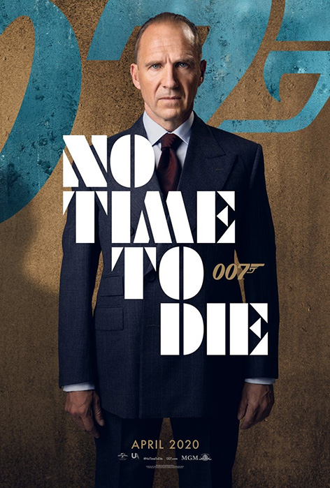M No Time To Die Ralph Fiennes character poster James Bond 007