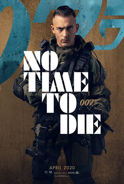 Primo No Time To Die Dali Benssalah character poster James Bond 007