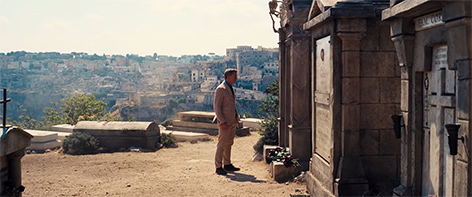 James Bond Daniel Craig grave graveyard matera italy no time to die