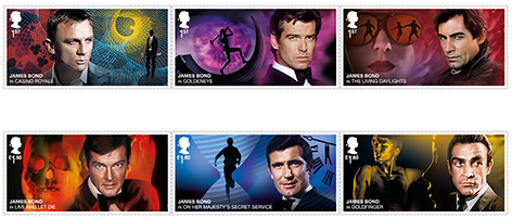 royal mail james bond stamps no time to die
