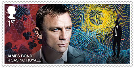 Daniel Craig Royal Mail stamp James Bond