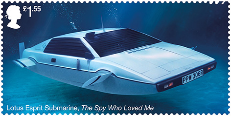 Royal Mail Stamp Lotus Esprit Spy Who Lved Me James Bond