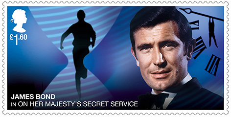 George Lazenby OHMSS stamp Royal Mail James Bond