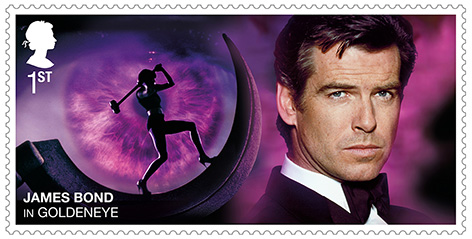 Royal mail stamps Pierce Brosnan James Bond