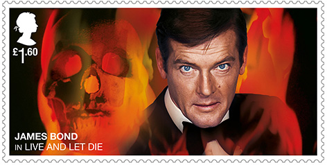 Roger Moore Stamp Royal Mail