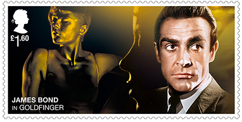 Sean Connery Royal Mail Stamp Goldfinger James Bond