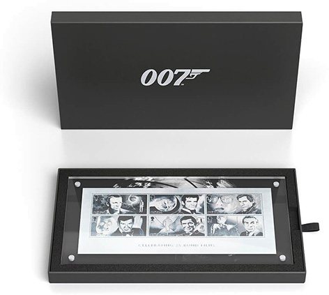 silver stamps royal mail james bond