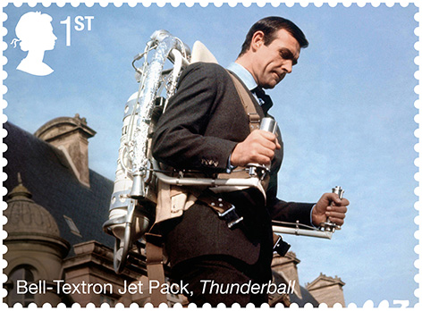 royal mail stamp jet pack thunderball james bond