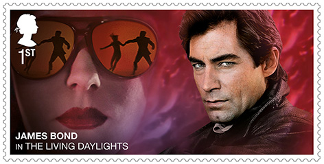 Timothy Dalton James Bond stamp Royal Mail