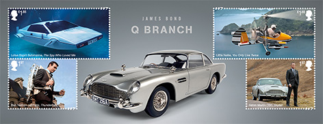 Royal Mail vehicles stamps James Bond q branch