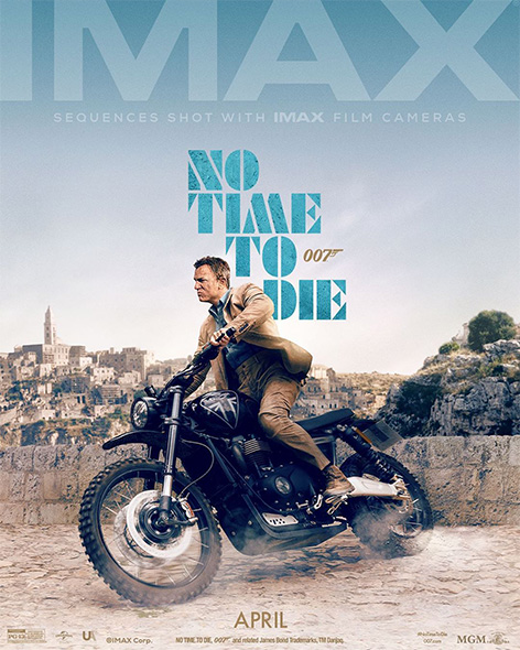 No Time To Die IMAX poster james bond daniel craig motorcyle